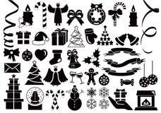 De pictogrammeninzameling van Kerstmis en van de Winter royalty-vrije illustratie
