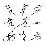 De pictogrammeninzameling van sporten Stock Foto's