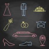 De pictogrammenkleur van de KRIJTstijl Royalty-vrije Stock Foto