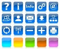 De pictogrammenreeks van Internet Stock Fotografie