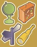 De pictogrammenreis van de kleur Stock Afbeeldingen