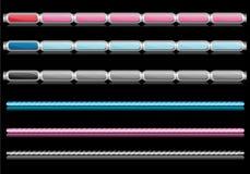 De pictogrammenstaven en grenzen van het Web Stock Foto's
