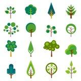 De pictogrammenvector van de boom Stock Afbeelding