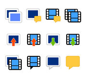 De pictogrammenvector van de video en van de foto Royalty-vrije Stock Foto's