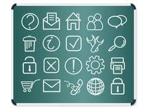 De pictogrammenvector van het bord stock illustratie
