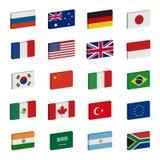 De pictogrammenvector van vlaggen Stock Afbeeldingen