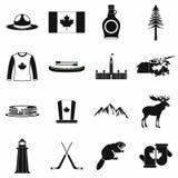 De pictogrammenzwarte van Canada Royalty-vrije Stock Afbeeldingen
