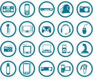De pictogramreeks van verschillende media stock illustratie