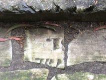 De piedra de pavimentación del topiary de la piedra sepulcral del cementerio, 30 Fotografía de archivo libre de regalías