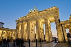 De piek Brandenburger in Berlijn, Duitsland royalty-vrije stock afbeelding