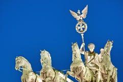 De piek Brandenburger in Berlijn, Duitsland royalty-vrije stock fotografie