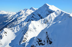 De piek van Aibga-berg, Krasnaya Polyana, Sotchi stock fotografie