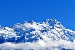 De piek van Annapurna, Nepal stock afbeeldingen