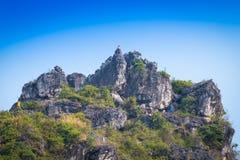 De piek van berg royalty-vrije stock afbeelding