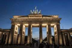 De Piek van Brandenburger stock foto's