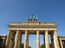 De Piek van Brandenburger, Berlijn Stock Foto