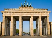 De Piek van Brandenburger in Berlijn Stock Foto