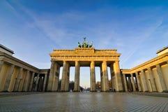 De piek van Brandenburger in Berlijn, Duitsland Royalty-vrije Stock Foto