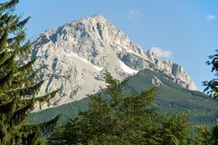 De piek van de berg stock afbeeldingen