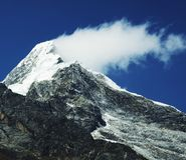 De piek van de berg royalty-vrije stock afbeeldingen