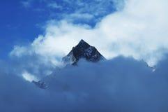 De piek van de berg Stock Foto's