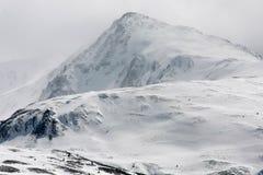 De piek van de berg Stock Foto