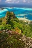 De piek van de berg, Maupiti royalty-vrije stock foto's