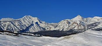 De Piek van de Doubletopberg in de Waaier van Gros Ventre in Centraal Rocky Mountains in Wyoming stock afbeelding