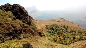 De piek van de Mullayanagiriberg, India Stock Afbeeldingen