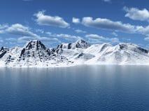 De piek van de sneeuw Stock Foto