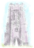 De Piek van Glastonbury stock illustratie
