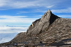De Piek van het zuiden, zet Kinabalu op royalty-vrije stock foto