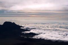 De Piek van Kilimajaro, Afrika royalty-vrije stock afbeeldingen