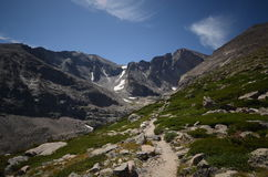 De Piek van Longs - het Rotsachtige Nationale Park van de Berg Stock Fotografie