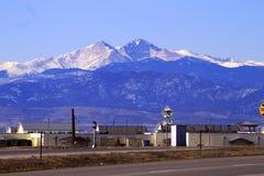 De Piek van Longs over Loveland Colorado stock afbeeldingen