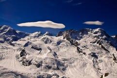 De piek van Matterhorn van de meningsvorm Stock Fotografie