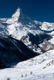 De piek van Matterhorn. Zermatt, Zwitserland Royalty-vrije Stock Afbeelding