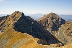 De Piek van Placlive in Westelijke Tatras stock foto