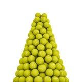 De piek van tennisballen Stock Afbeeldingen