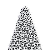 De piek van voetbalballen Stock Afbeeldingen