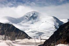 De piek van Wildspitze (3.774 m /12, 382 voet) Stock Foto