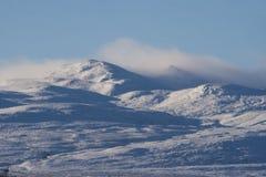 De pieken van Carnsalachaidh in de winter Stock Fotografie