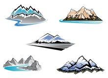 De pieken van de berg Royalty-vrije Stock Fotografie