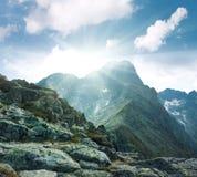 De pieken van de berg Royalty-vrije Stock Foto's
