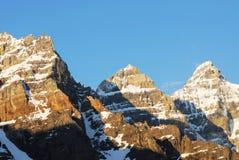 De pieken van de berg Royalty-vrije Stock Foto