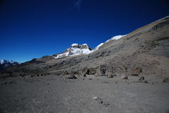 De pieken van de sneeuw en bergen van Peru Royalty-vrije Stock Afbeelding