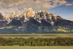 De Pieken van Grand Teton Stock Foto's