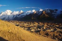 De pieken van Karakoram Stock Afbeelding