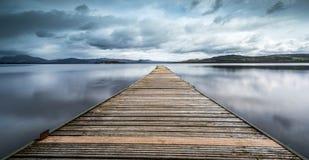 De Pier bij Loch Lomond Royalty-vrije Stock Afbeelding