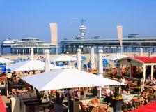 de pier scheveningen海边 免版税库存照片